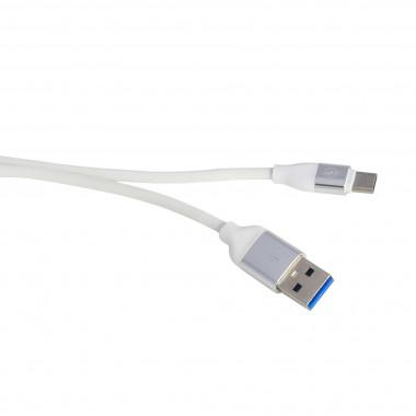 USB кабель белый Type-C 1 м каучуковая оплетка MRM-Power R12