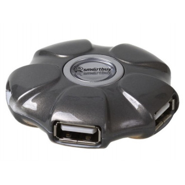 USB-хaб 4 порта серый Smartbuy UFO SBHA-143-G