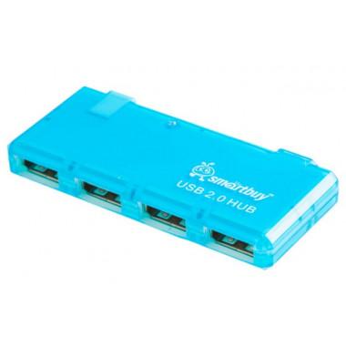 USB-хaб 4 порта голубой Smartbuy SBHA-6110-B