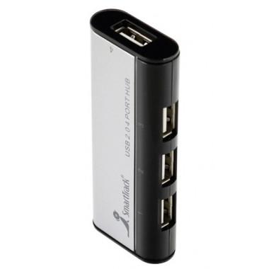 USB-хaб на 4 порта с магнитом черный Smartbuy SBHA-6806-K