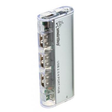 USB-хaб на 4 порта с магнитом белый Smartbuy SBHA-6806-W