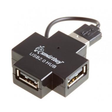 USB-хaб 4 порта черный Smartbuy SBHA-6900-K