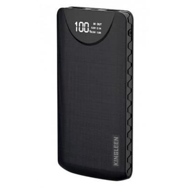 Аккумулятор внешний черный 10000 mAh 2.1 A Power Bank Kingleen Business Power 338S
