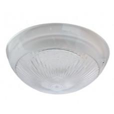 Светильник круг накладной GX70 LED прозрачный белый IP65 220х220х100 мм Ecola Light Сириус ДПП 03-60-3 TP70T1ECR