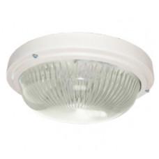 Светильник круг накладной GX53 LED прозрачное стекло IP65 белый 280х280х90 мм Ecola Light ДПП 03-18-003 TR53T3ECR