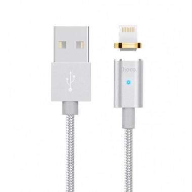 USB кабель магнитный серебристый 1.2 м для iPhone Hoco U16