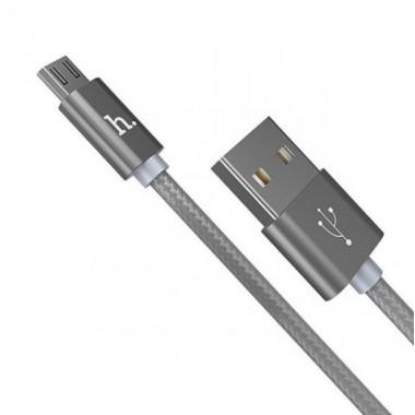 USB кабель черный 1 м для microUSB Hoco Rapid Charging X2