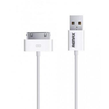 USB кабель белый 1 м для iPhone 30 pin Remax 4/4SW-1m