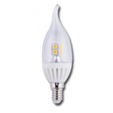 Лампа LED candle 4.0 W 220 V E14 2700 K 320 градусов прозрачная свеча на ветру Ecola C4YW40ELC