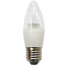 Лампа LED candle 6.0 W 220 V E27 2700 K свеча прозрачная с линзой 129x35 мм Ecola C7QW60ELC