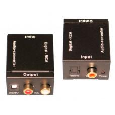 Аудио конвертер вход Digital coaxial +toslink-выход Analog RCA+3.5мм Audio DAYTON 10-0011A