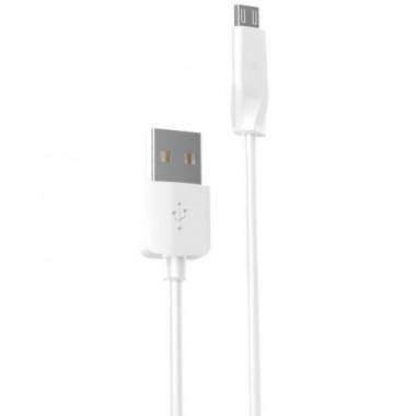 USB кабель белый 2 м для microUSB Hoco X1