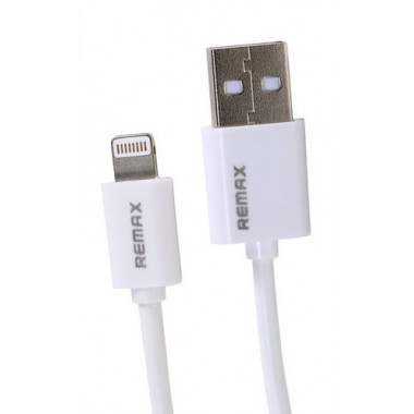 USB кабель белый 1м для iPhone 8 pin Remax RC-007i