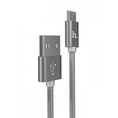 USB кабель черный 1.2 м для microUSB Hoco U6
