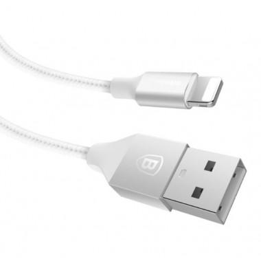 USB кабель iPhone 8 pin белый 1 м Baseus Yashine Nylon TPE CALYY-0S