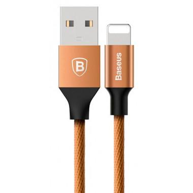 USB кабель iPhone 8 pin золотой 1 м Baseus Yashine Nylon TPE CALYY-0V