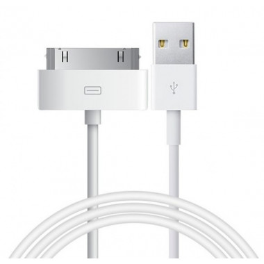 USB кабель белый 1.2 м для iPhone 4/iPad Hoco Quick Charge&Data UP301