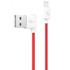 USB кабель iPhone 8 pin красный 1.2 м Hoco Shape Charging UPL11 L