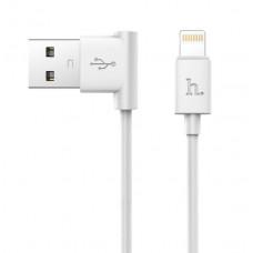 USB кабель iPhone 8 pin белый 1.2 м Hoco Shape Charging UPL11 L
