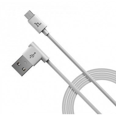USB кабель microUSB белый 1.2 м Hoco UPM10