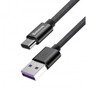 USB кабель Type-C черный 1 м 5A Baseus SPEED QC CABLE CATKC-01