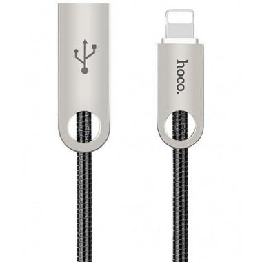 USB кабель черный 1 м для iPhone 8 pin Hoco U8