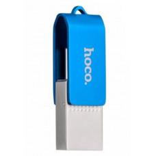 Флешка синяя 64 Gb Type-C/Micro Hoco UD3