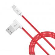 USB кабель красный 1.2 м для microUSB Hoco UPM10