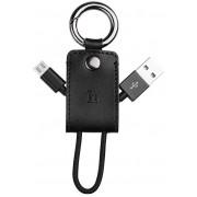 USB кабель брелок черный для microUSB Hoco UPM19