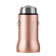Адаптер в прикуриватель розовое золото 1хUSB 2.1А Hoco Z4