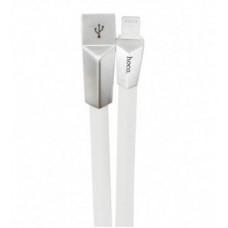 USB кабель белый 1.2 м для iPhone Hoco Zinc Alloy Rhombic X4