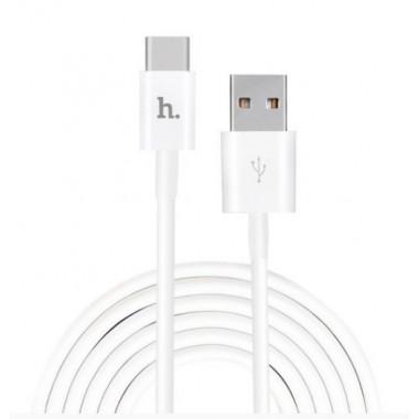 USB кабель белый 1.2 м Type-C Hoco UPT02