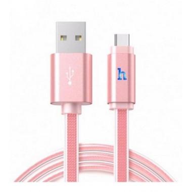 USB кабель розовый 1.2 м Type-C Hoco UPL12