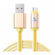 USB кабель золотой 1.2 м Type-C Hoco UPL12