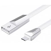 USB кабель белый 1.2 м Type-C Hoco Zinc Alloy Rhombic X4