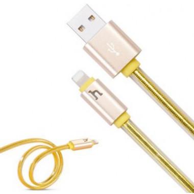 USB кабель золотой 2 м для iPhone Hoco UPL12