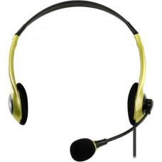 Гарнитура головная пассивная кабель 2.0 м желтая SmartBuy EZ-TALK MKII SBH-5200