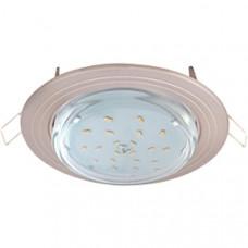 Светильник GX53 H4 встраиваемый без рефлектора 2 круг Хром Ecola FС31H4ECB