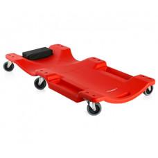 Лежак ремонтный пластиковый на 6-ти колесах 1000х475х128 мм MATRIX 567485