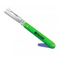 Нож садовый складной копулировочный пластиковая рукоятка пластиковый расщепитель 195 мм PALISAD 79008