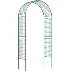 Арка садовая разборная 2.5х0.5х1.2м Сетка широкая 69124