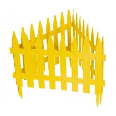 Забор декоративный 28 х 300 см желтый PALISAD Рейка 65000