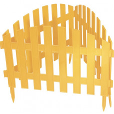 Забор декоративный 28 х 300 см желтый PALISAD Винтаж 65010