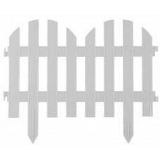Забор декоративный 28 х 300 см белый PALISAD Романтика 65020