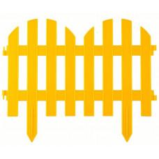 Забор декоративный 28 х 300 см желтый PALISAD Романтика 65023