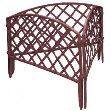 Забор декоративный 24 х 320 см терракот PALISAD Сетка 65026