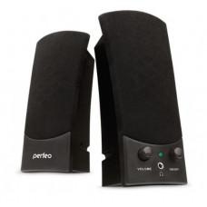 Колонки 2.0 USB мощность 2х3 Вт (RMS) чёрные Perfeo UNO PF-210