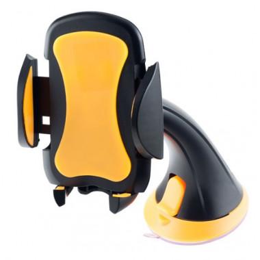 Автодержатель для смартфона\навигатора до 6,5' на стекло черно-оранжевый Perfeo PH-501