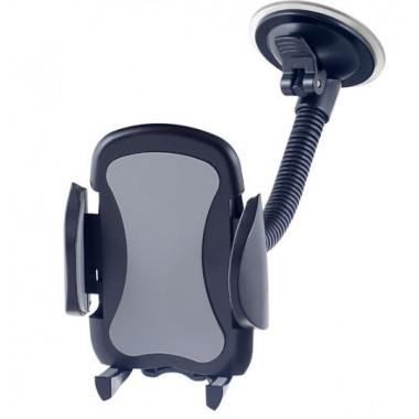 Автодержатель для смартфона до 6,5' на стекло гибкая штанга черно-серый Perfeo PH-517