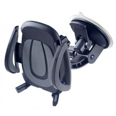 Автодержатель для смартфона до 6,5' на стекло торпедо супер присоска черно-серый Perfeo PH-520